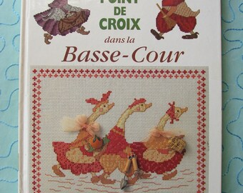 """Book embroidery """"Stitch in the Barnyard"""" Nadine Bazantay Editions Didier Carpentier, embroidery designs."""