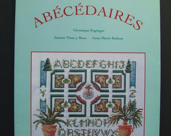 """Embroidery """"The big book of the alphabet"""" book published by the time Apprivoise, embroidery designs."""