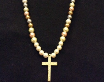 Glass Pearl Bead Mix Necklace