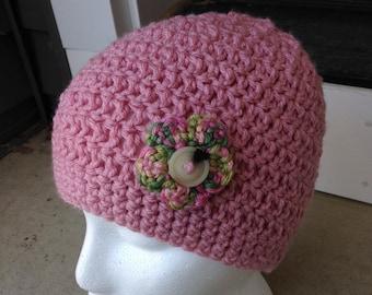 Child's Dusty Pink Hat