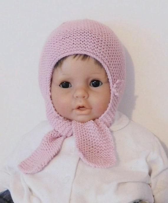 c7a6bd814336 Cagoule bébé bonnet écharpe bébé fille 6 mois 9 mois en laine   Etsy
