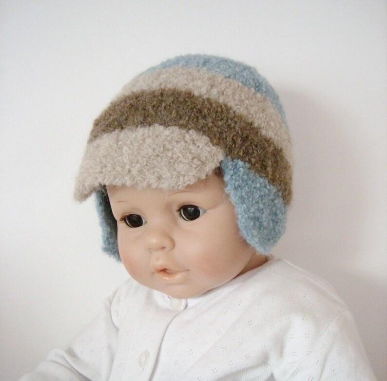 1719e9f739b Cap baby Hat baby 6 months   9 months green alpaca wool beige
