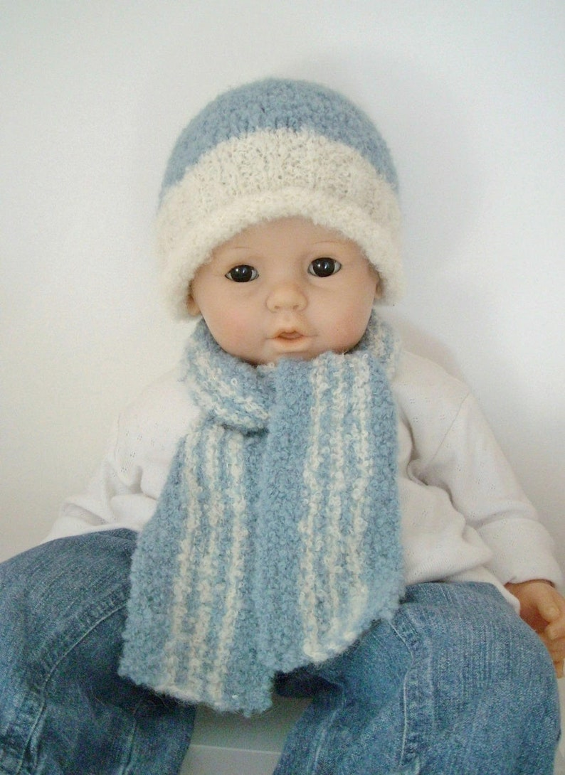 8b3622a65e3 Baby hat and scarf set baby 9 months 12 months in alpaca wool