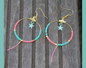 "creole earrings ""summer"""