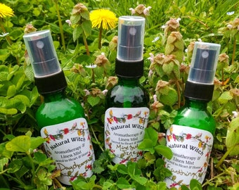 Organic Aromatherapy & Linen Mist Sprays- Smudge Cleanse Facial Vibrate Higher