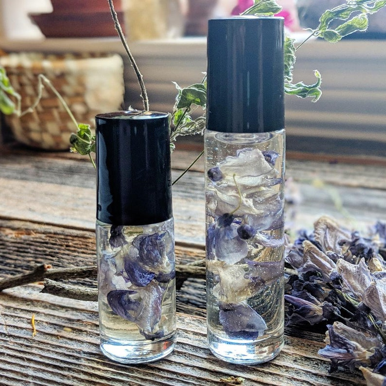 Wisteria Inner Vision Organic Essential Oil-Beauty Magick Messages Healing  Love Manifestation Wisdom Mercury Protection
