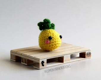 Mini Pineapple Crochet Amigurumi Plush Keychain