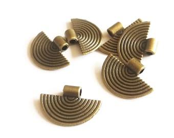 5 connecteurs rond bronze Ø 21 création collier bo bracelet pendentif