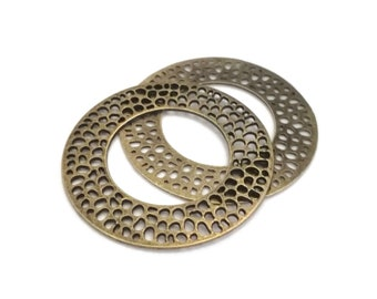 bronze 40mm earrings holders to decorate x12 round Creole rings