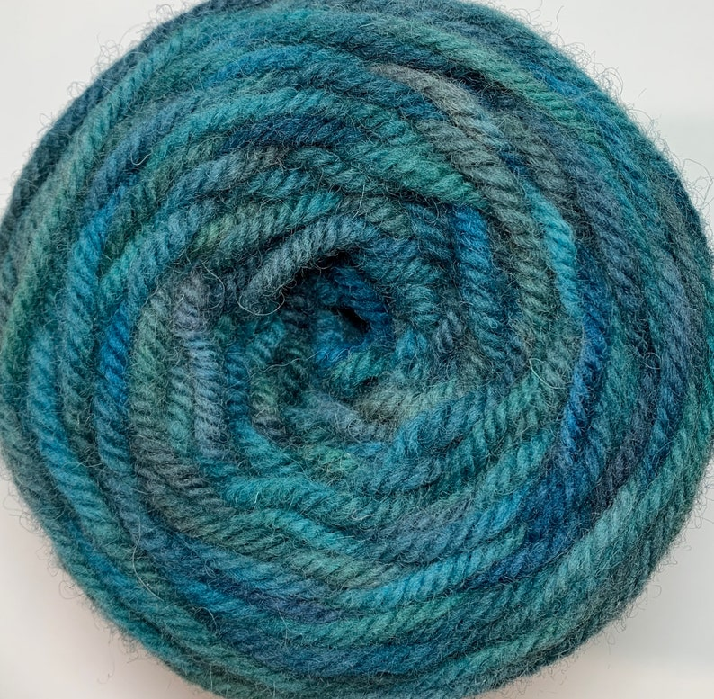 For use with the Oxford Punch Regular Needle Bluegreenteal Hand Dyed Rug Wool Yarn Punch Needle Rug Hooking