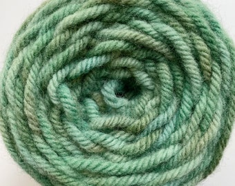 One of a kind Green Variegated Hand Dyed Rug Yarn - excellent for Oxford Regular Needles
