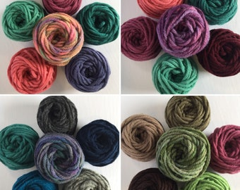 Rug Wool Multi Packs (multiple color options) -  Punch Needle Rug Hooking - For use with the Oxford Punch Regular Needle