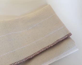 Dorr Mill Monk's Cloth for Punch Needle Rug Hooking with the Oxford Punch - serged edges - 12 count, 12 holes per inch