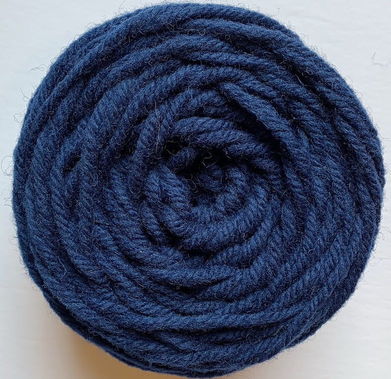Navy Blue Rug Wool - Punch Needle Rug Hooking - Oxford Punch