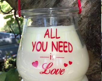 Lantern message candle scent to choose soy wax