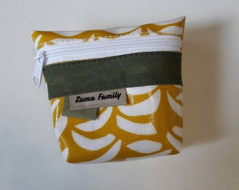 Wallet khaki and yellow