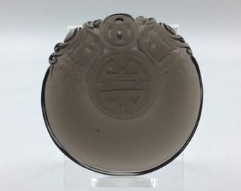 pendant, taoist amulet, pixiu, long obsidian ice life