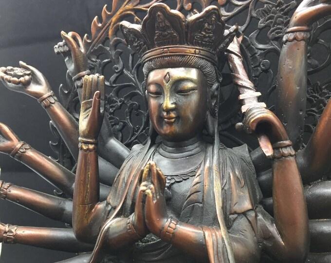 Buddhist statue bronze and copper bodhisattva Avalokitesvara