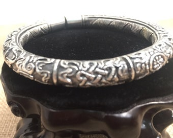 925 silver Buddhist rush bracelet, 8 Astamangala (ausperious signs)