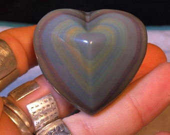 Obsidian eye Celeste heart. 44 grams 48/52 mm.
