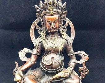 Buddhist statuette bronze and copper Jambhala. Height of 26cm