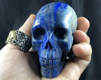 Lapis lazuli crystal skull entirely handmade single piece 7/6/4cm 0.366kg