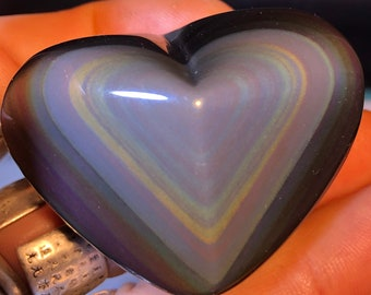 heart Obsidian eye Celeste exceptional. 49 grams 48/56 mm.