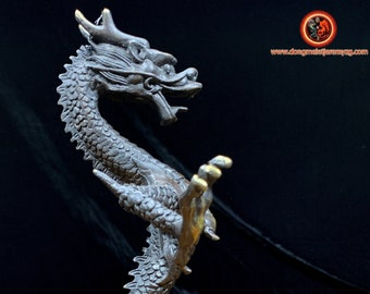 dragon statuette, high quality bronze with high copper content, 24cm high, 16cm wide, 15cm deep, 0.788kg weight