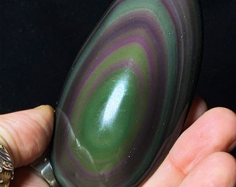 pebble in obsidian celeste eye. Rare and exceptional collection quality 98mm/50mm/22mm 0.130kg