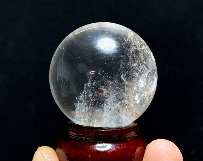 Sphere, crystal ball. Rock Crystal of Brazil, excellent quality. Beautiful frosts in inclusions. Natural rock crystal. 0.160kg