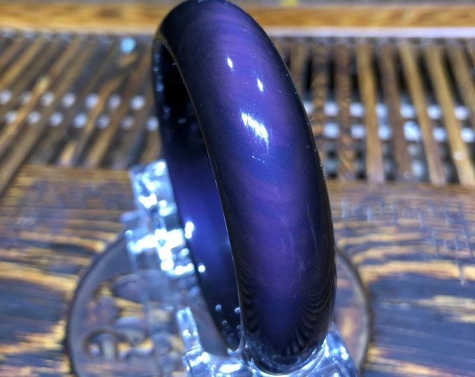 Jonc in obsidian celeste eye. size 62mm.