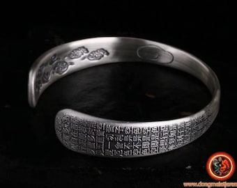 999 silver Buddhist rush bracelet, heart sutra