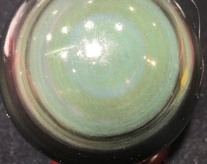 Sphere in obsidian eye celeste of a quality. 0.456kg