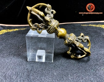 Vajra, bronze dorje ritual object of the worship of Tibetan Buddhism and Japanese shingon, esoteric Buddhism, vajrayana, tantric.14/6cm