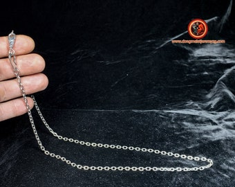 Silver chain 925. Convicted mesh. Hook clasp. Length 64cm, weight of 22 grams. width and length of mesh 4mm/ 5mm