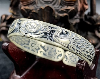 Silver rush bracelet 999/1000th (punched Ag999), phoenix, feng shui.