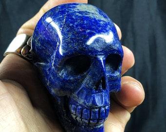 Lapis lazuli crystal skull entirely handmade single piece 6/5/3.5cm 0.240kg