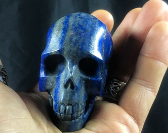 Lapis lazuli crystal skull entirely handmade single piece 5.5/4.5/3cm 0.185kg