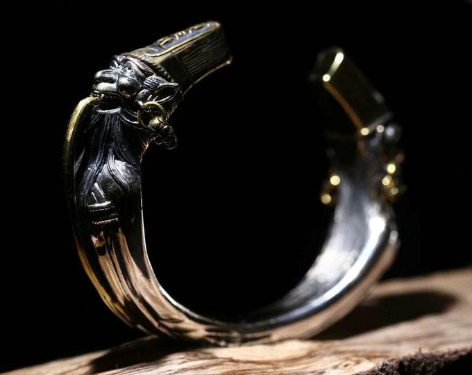 Bracelet de protection taoïste Bai et Hei Wu Cheng argent 925 et cuivre