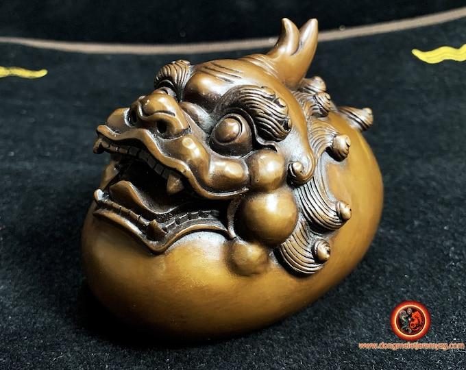 Statuette Pixiu, Pi Yao en bronze. Feng Shui. Porte bonheur, bonne fortune, bonne circulation du Qi, protection, éloigne la malchance