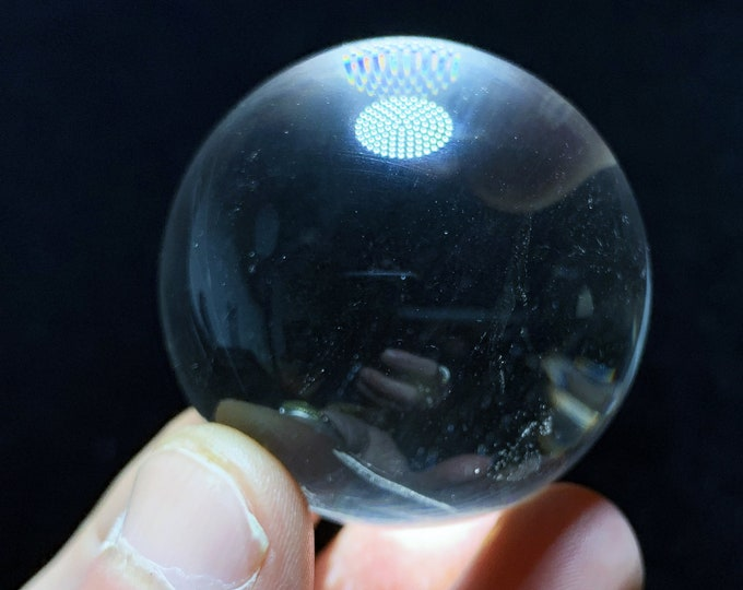 Sphere, crystal ball. Rock Crystal of Brazil, excellent quality. Beautiful frosts in inclusions. Natural rock crystal. 0.137kg