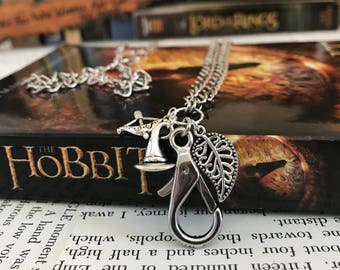 The Hobbit Lanyard, Middle Earth Lanyard, Lord of the Rings, JRR Tolkien, Middle Earth, Bookworm, Charm Lanyard, Bookish, Book Lover