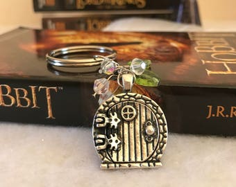 Hobbit Hole Keychain, The Hobbit Keychain, Lord of the Rings, JRR Tolkien, Middle Earth, Bookworm, Charm Keychain, Bookish, Book Lover