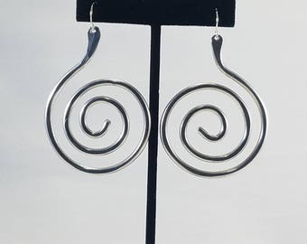 Aluminum statement large lightweight earrings