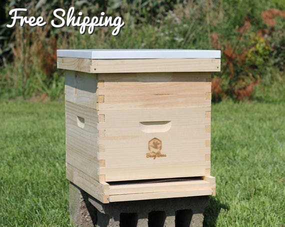 20-Frame Langstroth Bee Hive Complete Box Kit Free Shipping!