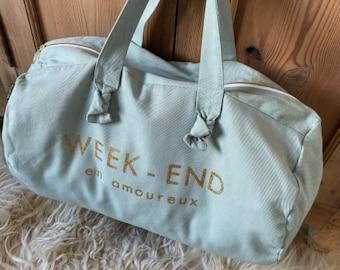 """Bag """"Weekend in love"""" caribbean blue"""