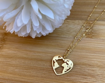 NECKLACE TRAVEL gold stainless steel