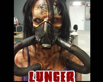 "Full Face Latex Prosthetic ""LUNGER"" created by DRK Studios.   https://youtu.be/4PwVINvQOe8"