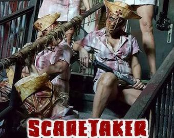 """Silent Hill Inspired Latex Full Face Mask """"Scaretaker"""" By DRK Studios."""