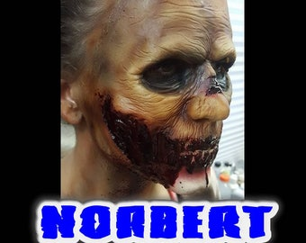 """Zombie Full Face Latex Prosthetic """"NORBERT"""" created by DRK Studios."""